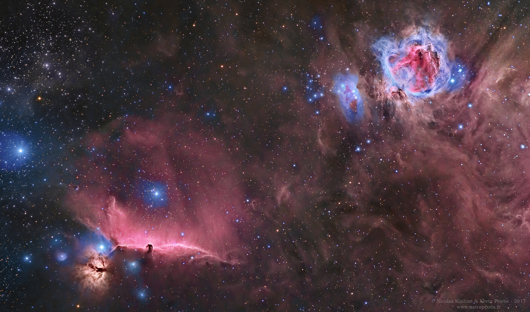 Orion's  most famous nebulae,                                Nicolas Kizilian