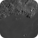 a close up of Promontorium Laplace with a lot of impacts,                                Uwe Meiling