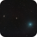 Comet C/2018 Y1 Iwamoto in front of M95 and M96,                                Francesco Meschia