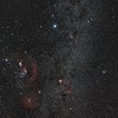 Barnard Loop / Orion / Seagull / Rosette / Meissa and Milky Way  & Meteor - 14mm Rokinon,                                KiwiAstro