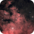 NGC 7822 detail in HOO and Halpha,                                MicRaWi