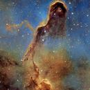 The Elephant Trunk -  Hubble Palette,                                Eric Coles (coles44)