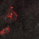 IC1805 IC 1848 Double cluster old data / Canon 100Da + Samyang 135mm / SW SA / SIRIL 0.9.12,                                patrick cartou