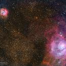 Trifid and Lagoon Nebula,                                Dennis Sprinkle