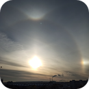 Halo in Narva City in Estonia 09.02.2021,                                Sergei Sankov