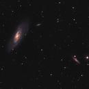 M106 and friends in an urban sky: HaLRGB,                                Bogdan Borz