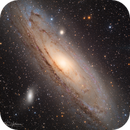 M31 from Deep Sky West data,                                Tim Hutchison
