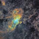 Eagle Nebula and surround in SHO,                                robonrome