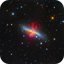 M82 - Starburst Galaxy with a Superwind,                                ItalianJobs