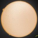 The Sun on the 23th February 2021., in H-alpha wavelength,                                Krisztian Kerepesy