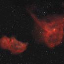 IC 1805 Heart Nebula & IC 1848 Soul Nebula: Reduced Stars,                                ThomasR