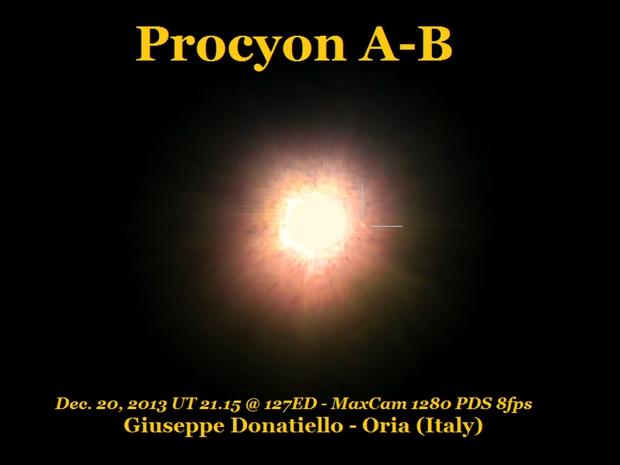 Procyon B (white dwarf),                                Giuseppe Donatiello