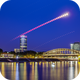 Moon/Mars trail over Cologne's east side,                                Martin Junius