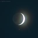 Moon, Aldebaran and plane!,                                Agostino Lamanna