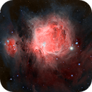 Great Orion Nebula from a Bortle 9 area,                                minhlead