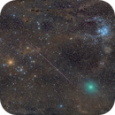 Comet 46P/Wirtanen,Dusty Taurus,Pleiades and a bright Geminid Meteor!,                                Mohammad Nouroozi