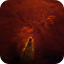 "NGC2264 Cone Nebula in Starless Ha ""Hot Iron"" palette,                                John Ebersole"