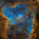 The heart nebula IC 1805 + 3D stero picture of Steve Lantz vers. B,                                Christoph Lichtblau