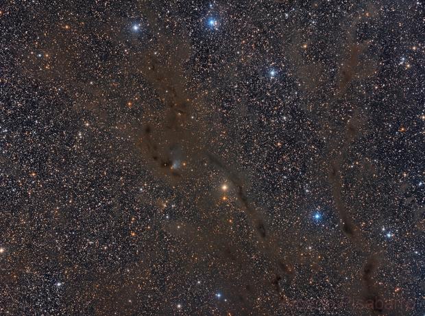 Widefield- B7 Dark Nebula in Taurus,                                Alberto Pisabarro