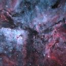 Centre of Eta Carina, in OSC RGB with a bicolour boost.,                                Todd