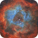 Rosette Nebula NGC2244 (Bortle 8) SHO Red version,                                Carastro