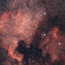NGC 7000 et IC 5070 mosaique,                                astronono