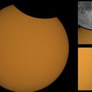 Partial Solar Eclipse & Sun surface with sunspots region: AR 2829 (AXX Class),                                Mirosław Stygar