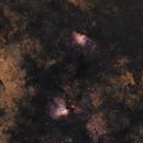 M16 Eagle Nebula - M17 Omega Nebula,                                Allan Alaoui