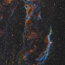 Western veil(NGC6960), Pickering's Triangle and NGC6974/6979,                                Marukawa