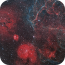 Gum Nebula + Vela Supernova Remnants in Glorious 135mm,                                Coolhandjo
