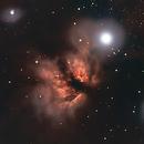 Flame and Horsehead Nebula Livestack (13 subs),                                Rob Calfee