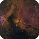IC 1871, Detail in the Soul Nebula in H(HOS)O,                                Madratter