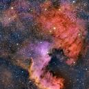 Nebulosa Norte América en banda estrecha (North America Nebula in Narrow Band) - NGC 7000. HSO Pallette,                                Alfredo Beltrán