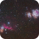 Flame, Horse head and Orion nebulae,                                Ricardo L Pinto