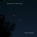 Jupiter and Saturn 12/13/2020 1728 hours,                                Van H. McComas