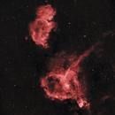 IC 1805 Heart Nebula - IC 1848 Soul Nebula H-Alpha,                                Allan Alaoui