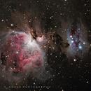 Orion Nebula and Running Man Nebula,                                omeganon