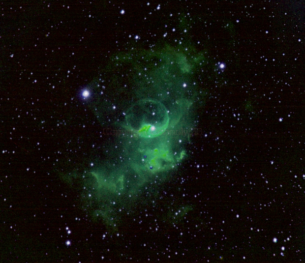 NGC 7635, also called the Bubble Nebula, Sharpless 162, or Caldwell 11,                                Connolly33