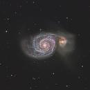 M51 - The Whirlpool Galaxy HaLRGB,                                Chad Leader