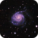 M101 The Pinwheel Galaxy  guided 240s subs,                                David Redwine