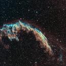 Eastern veil supernova remnant in Bi-color,                                David Lindemann