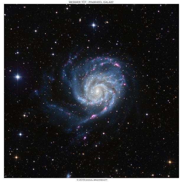 M101 - Pinwheel Galaxy (L+HaRGB),                                Dhaval Brahmbhatt