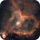 Heart Nebula in Ha/Oiii false color,                                Karol R