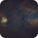 Sh2-205 & Sh2-206 Emission Nebulas in SHO,                                Douglas J Struble
