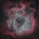 NGC 2244 - Rosette Nebula - Bicolor,                                minoSpace