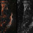 Veil Nebula (western part) HO narrowband,                                HaSeSky