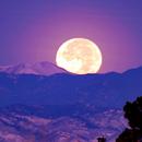 Moonset against the front range mountains in Denver,                                Steve Lantz