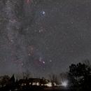 Winter constellations rising over club house.,                                Tim McCollum