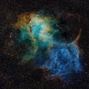 Sh2-132 The Lion Nebula in SHO,                                Jim Lindelien