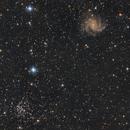 NGC 6946 Fireworks galaxy and NGC 6939,                                Kharan